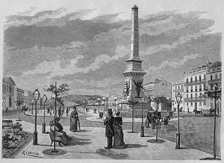 O monumento aos restauradores da independência de Portugal em 1640